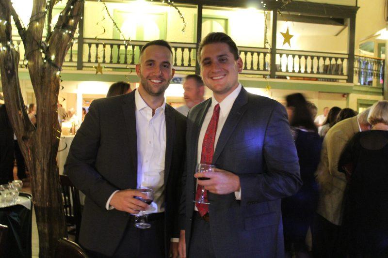 Ryan Duff, Dan O'Keefe at Vin Le Soir event