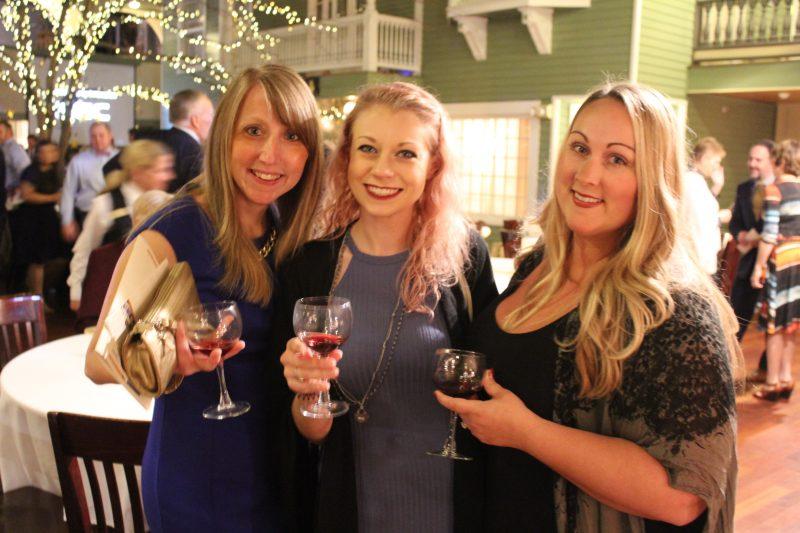 Diane Hall, Katherine Mackay, Brooke Mattison enjoying the Vin Le Soir event