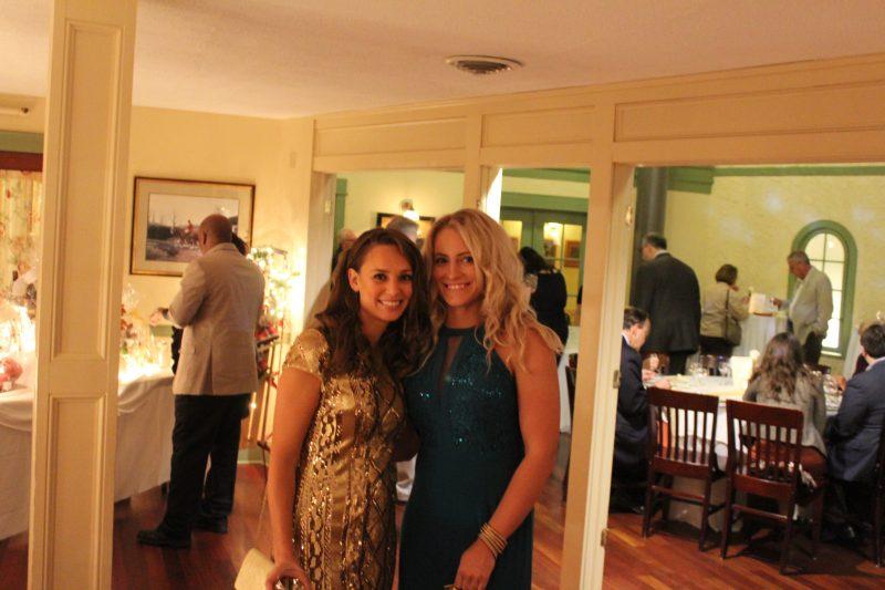 Marissa Wendolovske, Kayla Winsman enjoying Vin Le Soir event