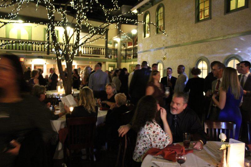 Crowd at the Vin Le Soir event