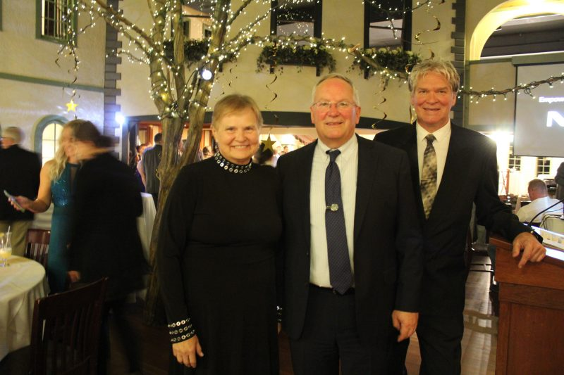 Executive Director, June MacClelland with Circle of Support Sponsor Tom Flynn, Jaeger & Flynn Associates and Walt Adams, Director of Public Relations at the Vin Le Soir event