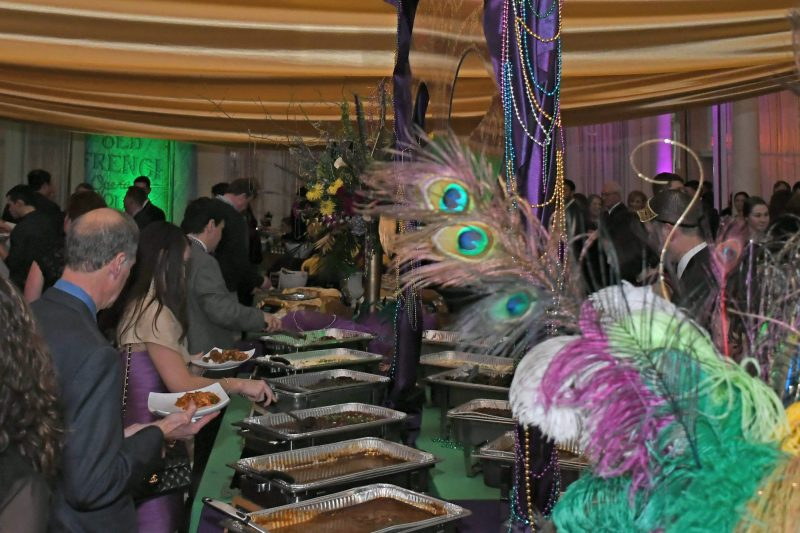 Buffet of food at Mardi Gras for AIM Services