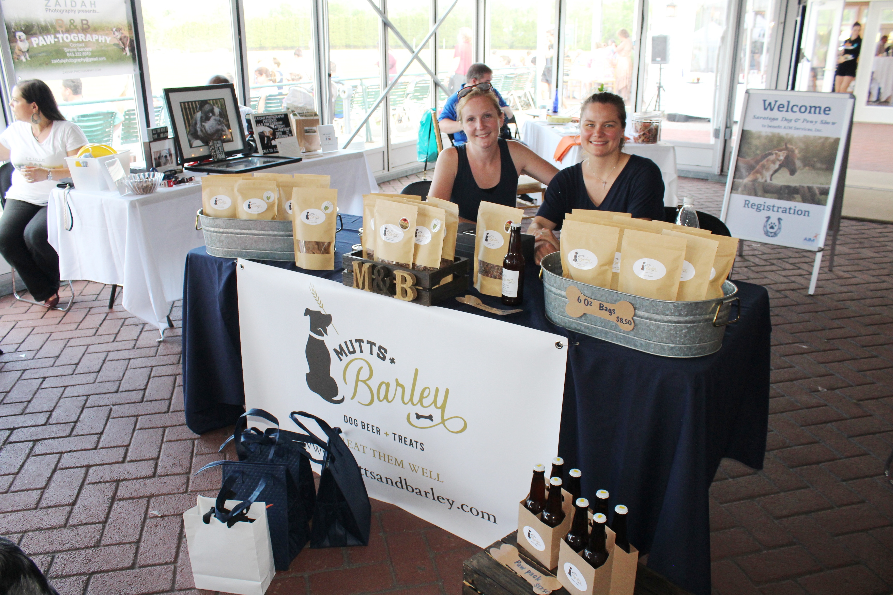 Mutts and Barley vendor at the Saratoga Dog & Pony Show to benefit AIM Services, Inc.