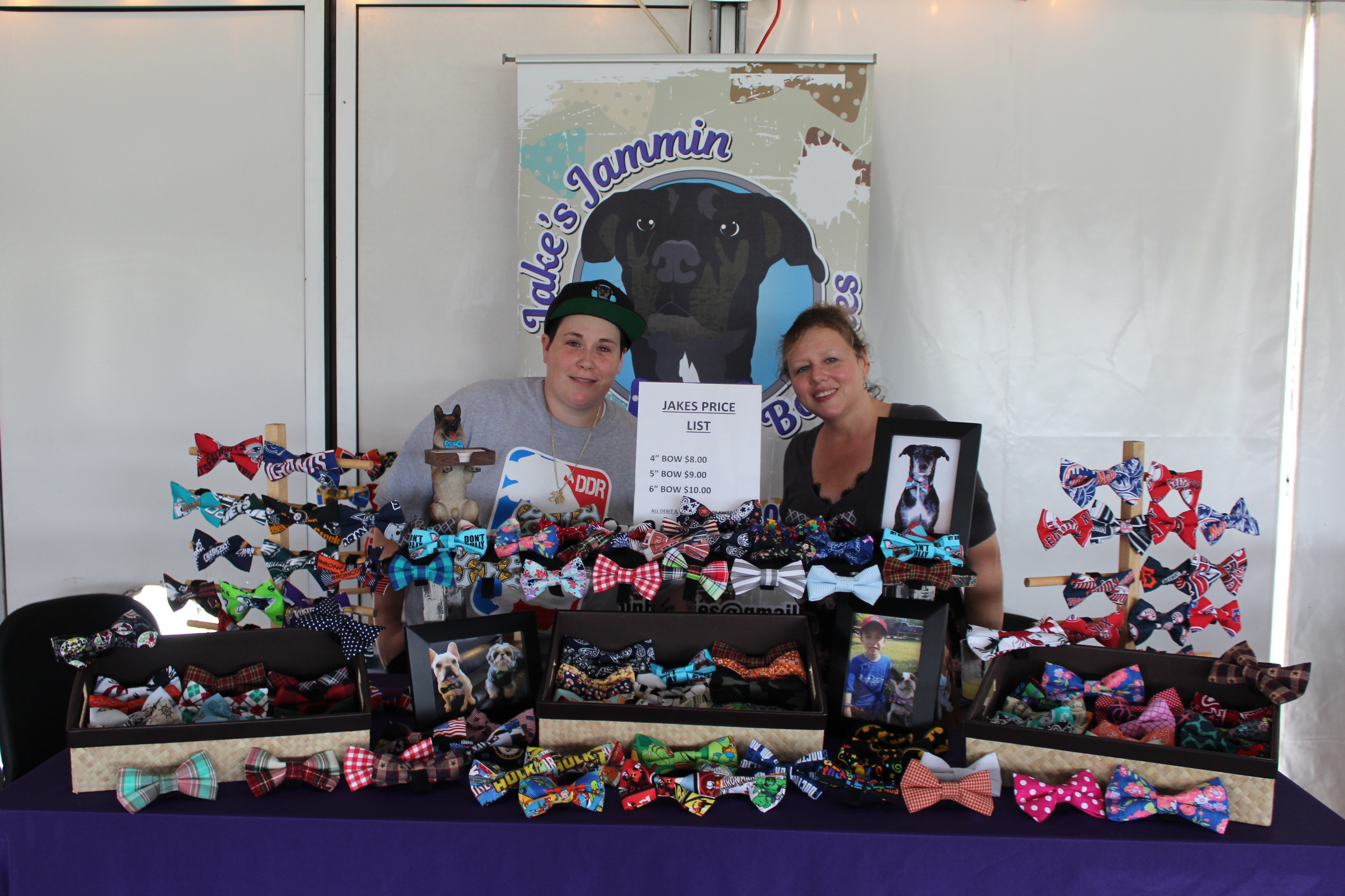 Jake's Jammin Bowties vendor at the Saratoga Dog & Pony Show to benefit AIM Services, Inc.