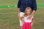 Josh Phelps with daughter at the Saratoga Dog & Pony Show to benefit AIM Services, Inc.