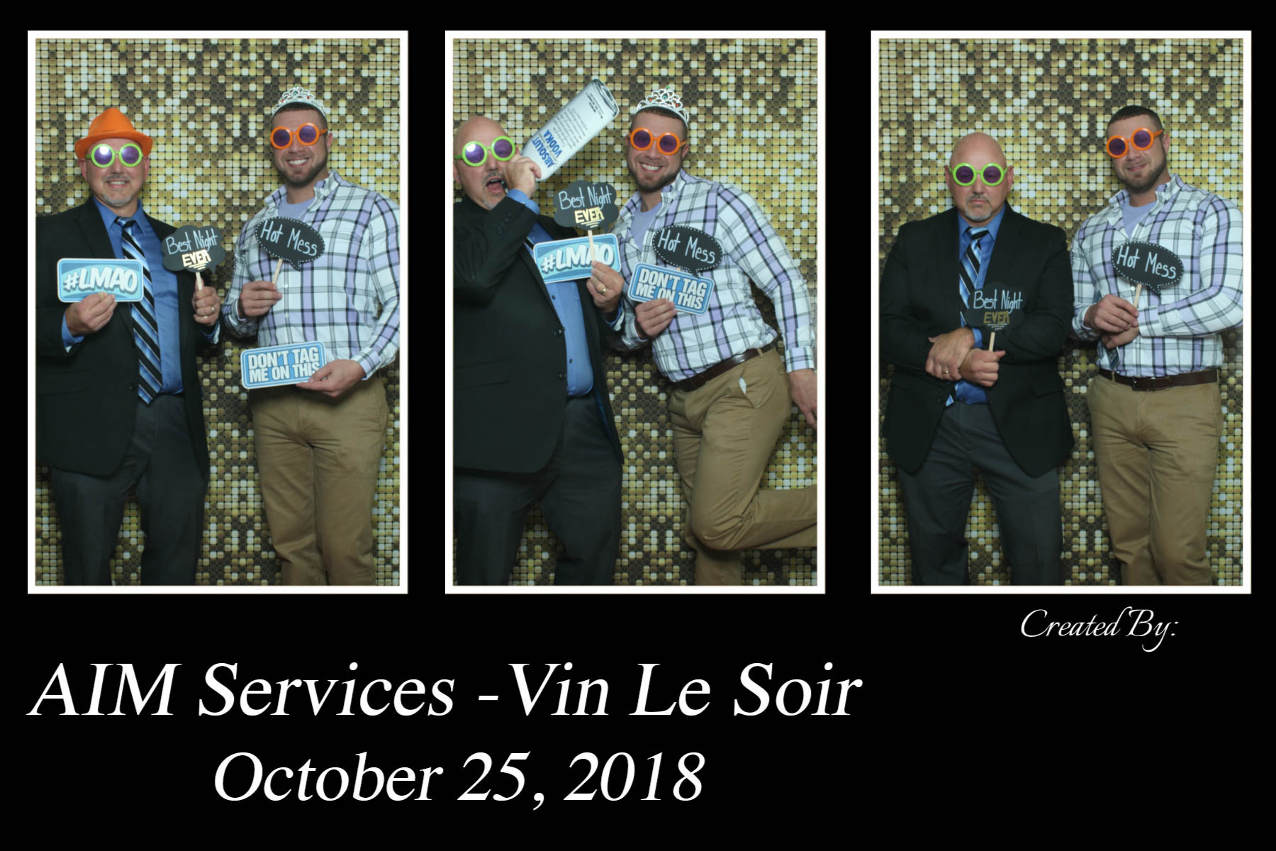Vin Le Soir to benefit AIM Services, Inc. photobooth picture