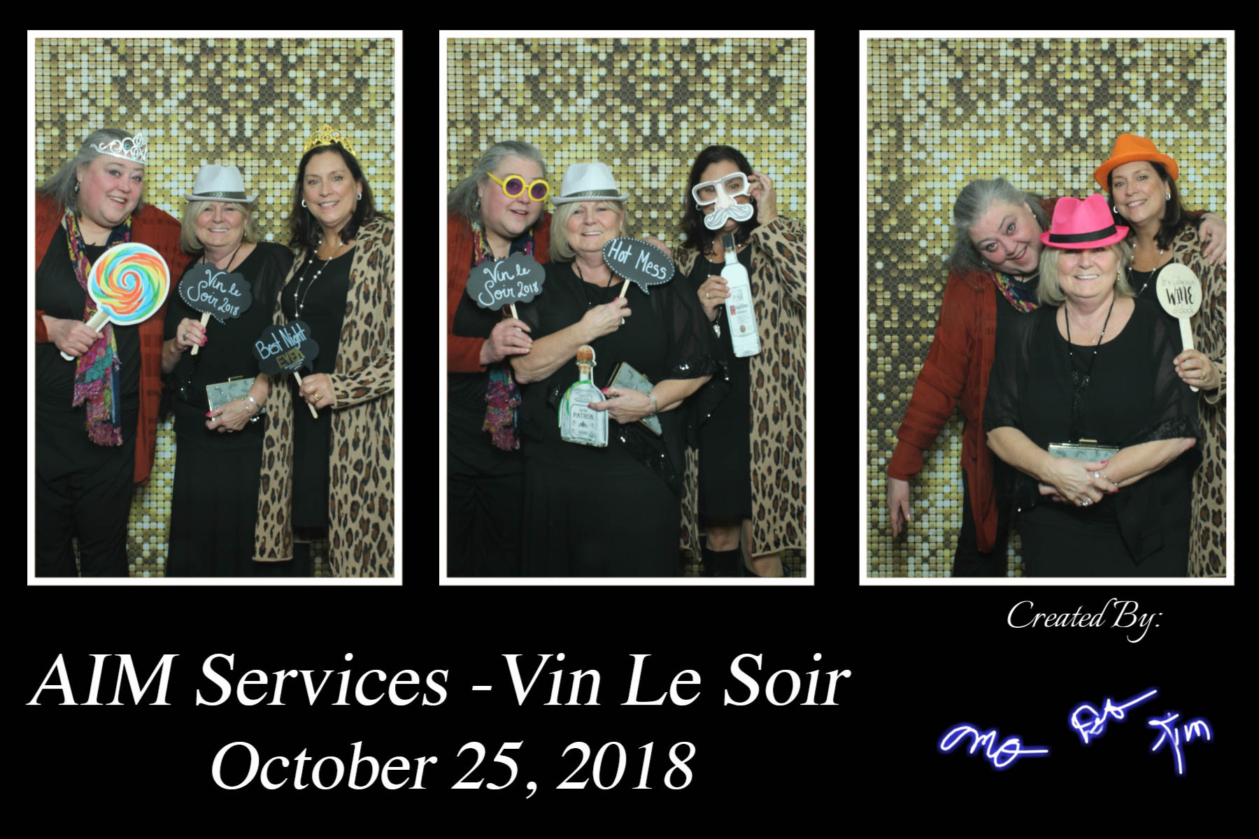 Vin Le Soir to benefit AIM Services, Inc. photo booth picture