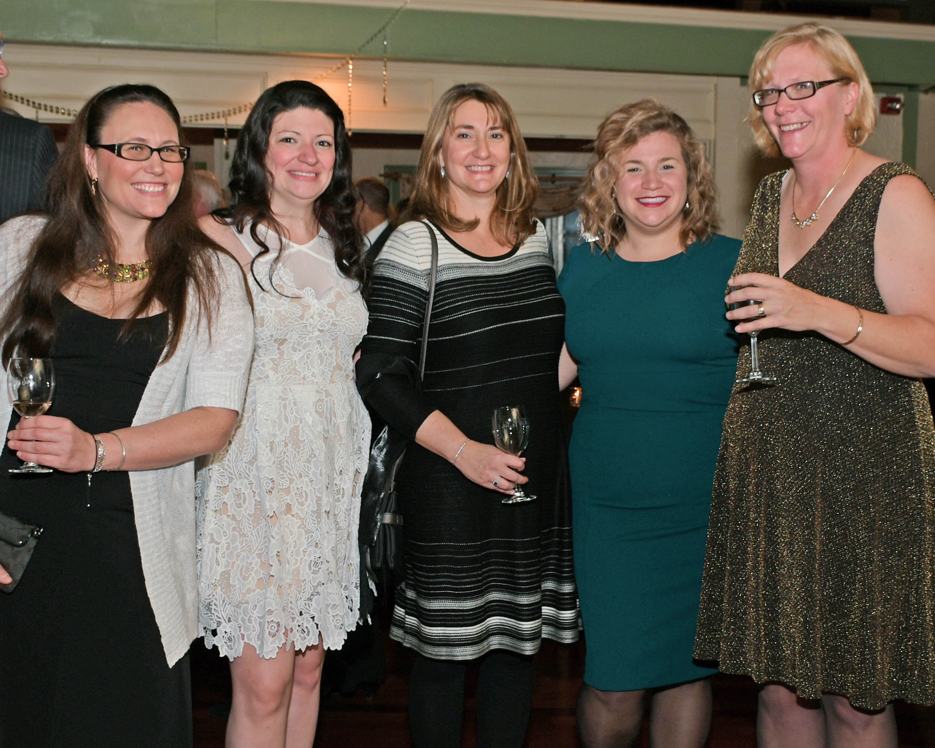 Vin Le Soir to benefit AIM Services, Inc. group of five women with wine