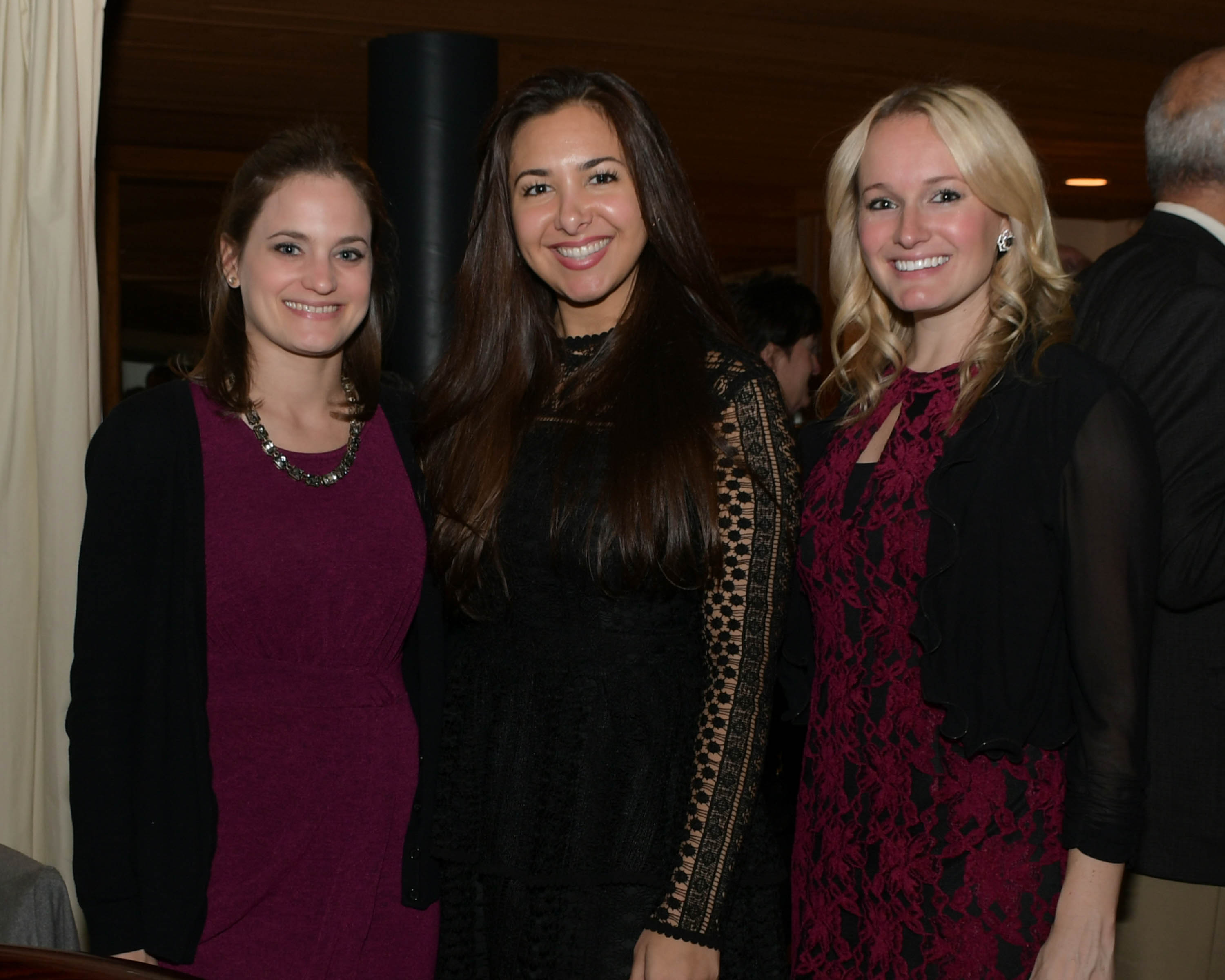 Vin Le Soir to benefit AIM Services, Inc. three women at AIM wine tasting