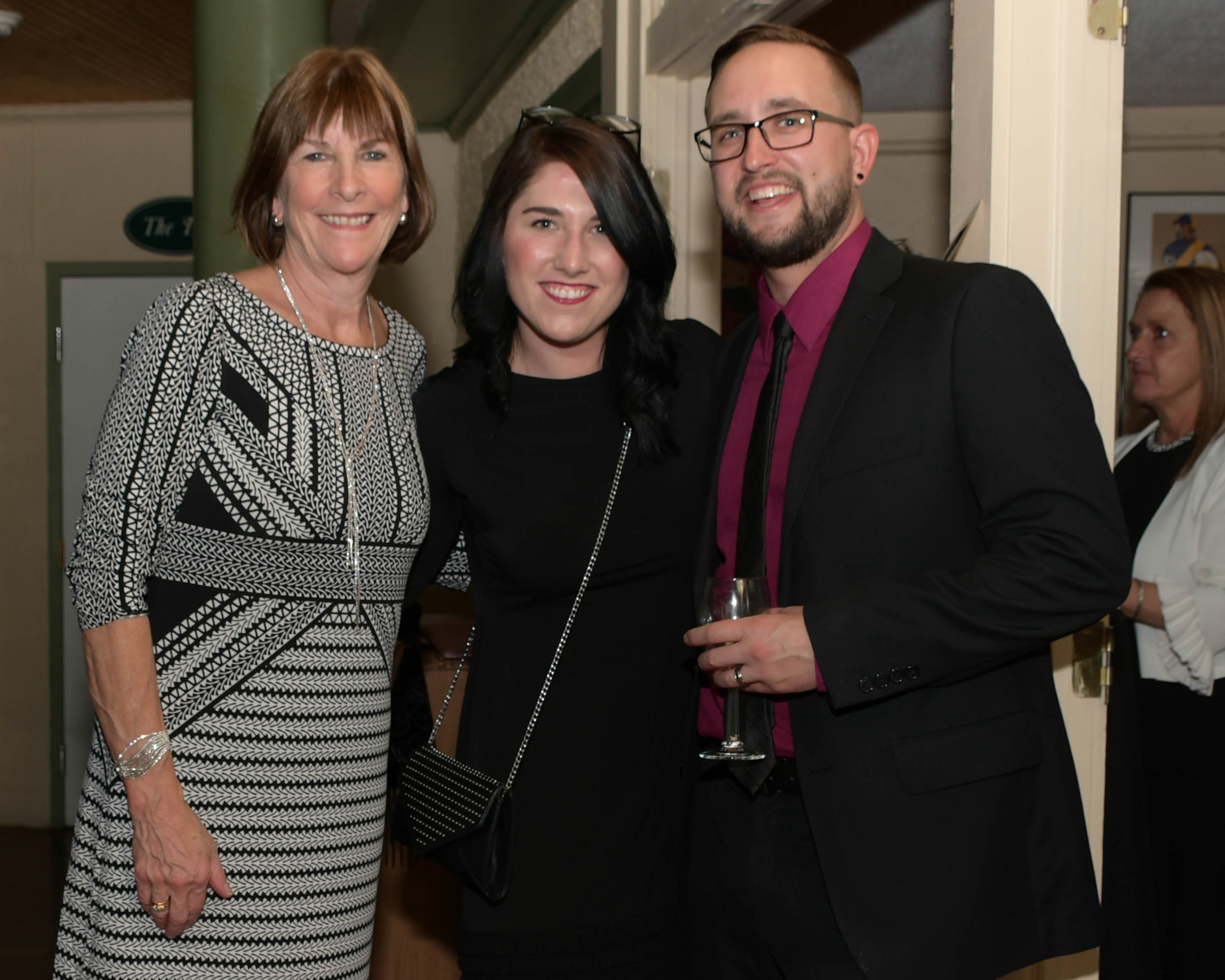 Vin Le Soir to benefit AIM Services, Inc. group of three people at AIM wine tasting