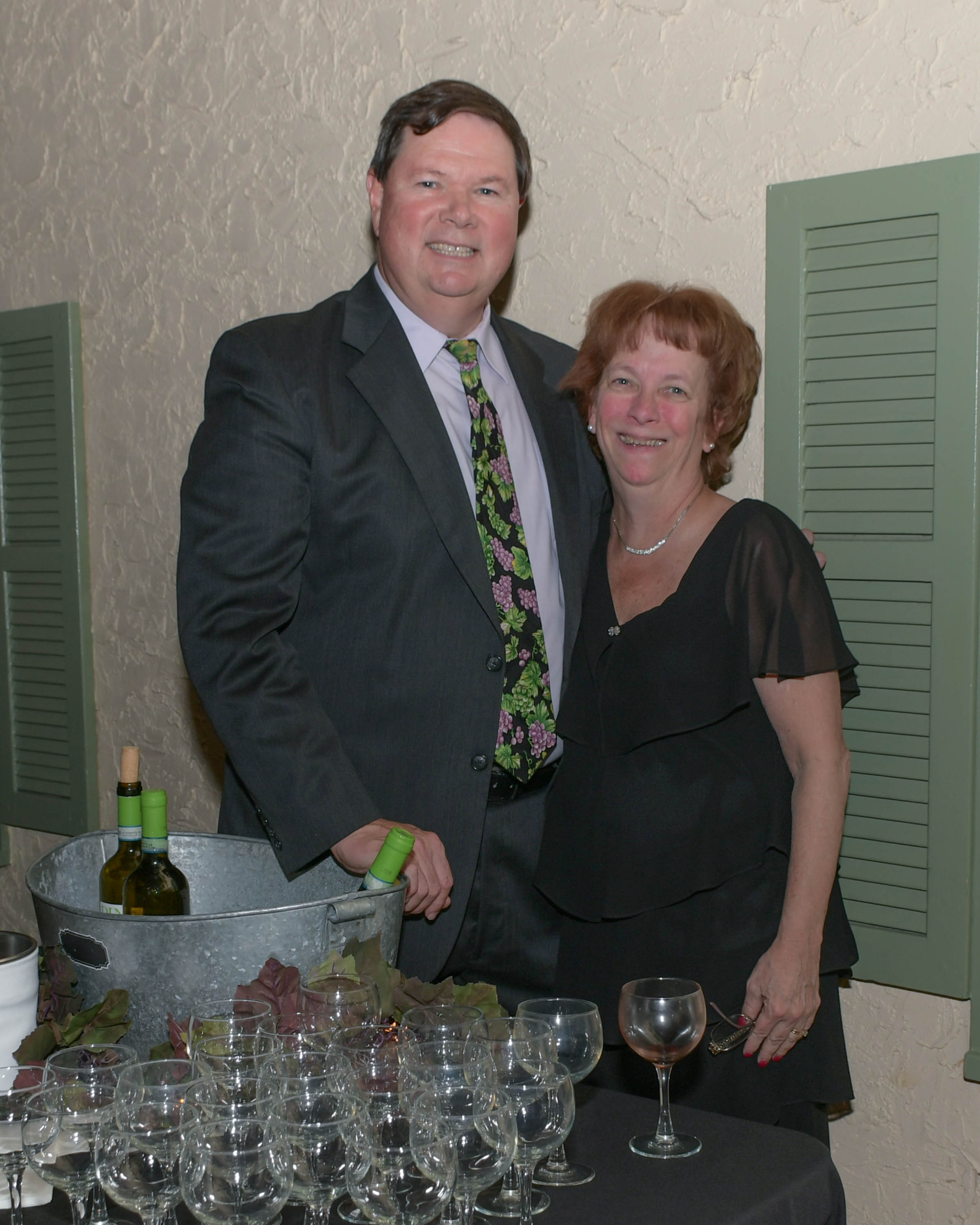 Vin Le Soir to benefit AIM Services, Inc. Brian Gwynn and wife at AIM wine tasting from Specialty Wines and More