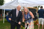 Congressman Paul Tonko and Saratoga Springs Mayor Meg Kelly with mallets at AIM Services Croquet on the Green event