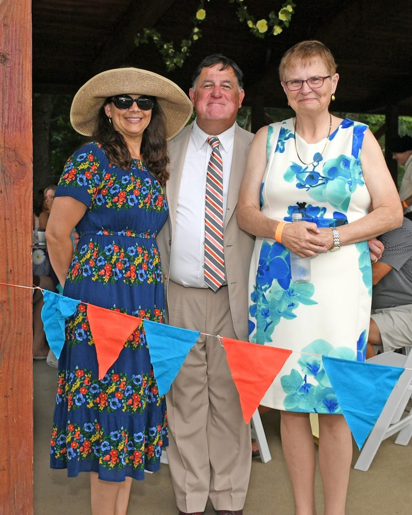 Chris Lyons, June MacClelland and Sharon Dominguez at AIM Services Croquet on the Green event