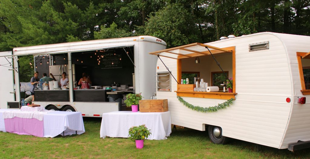 Deliciously different specialty items catering truck at AIM Services Croquet on the Green event