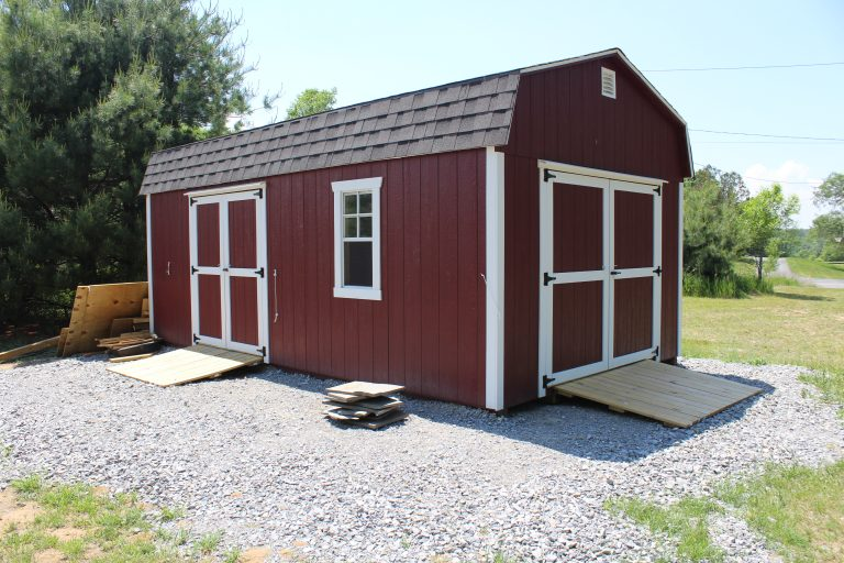 Green Garden Red Shed for garden activities and storage - AIM Services, Inc.
