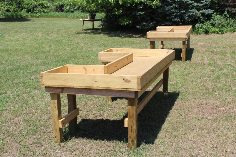 Outdoor planting tables for Potted Flowers, Plants, Herbs, Succulents - AIM Services, Inc.