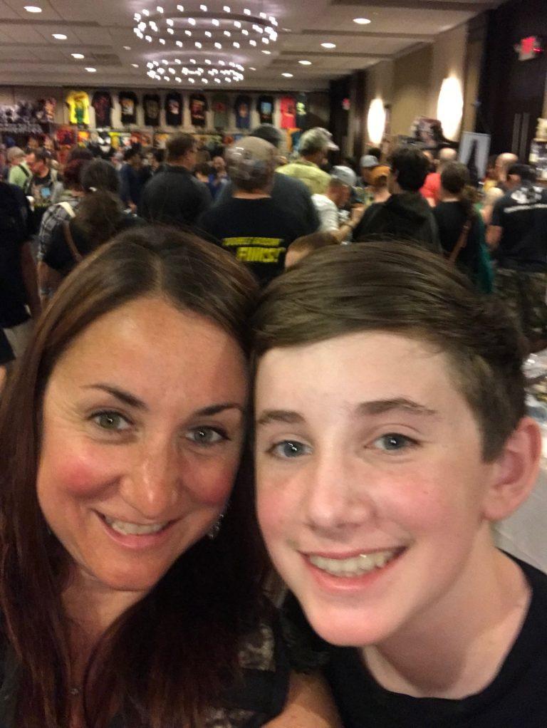 Tara Anne Pleat and her son Drew