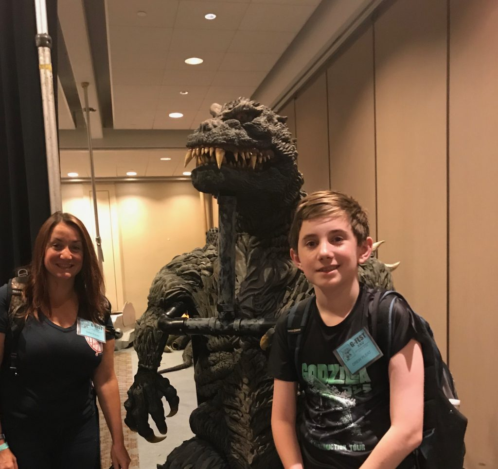 Tara and her son Drew at G-Fest