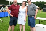 Group of three people together at Croquet on the Green 2019