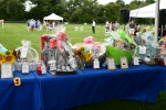 Raffle baskets at Croquet on the Green 2019
