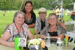 Group of four women at a table at Croquet on the Green 2019
