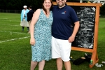 Carrie Locke and Josh Phelps smiling together at Croquet on the Green 2019