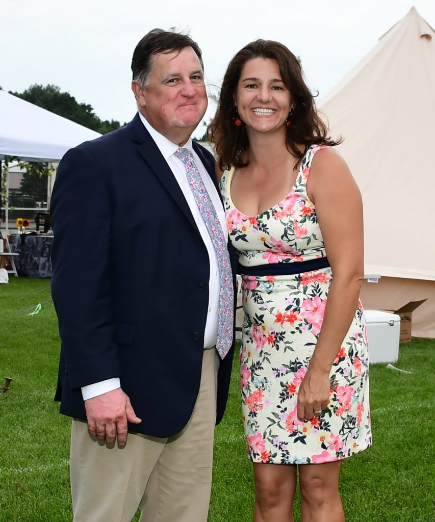 Chris Lyons and Kim Crocetta at Croquet on the Green 2019