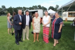 L-R: Paul Tonko, Chris Lyons, Meg Kelly, June MacClelland, and Carrie Woerner at Croquet on the Green 2019
