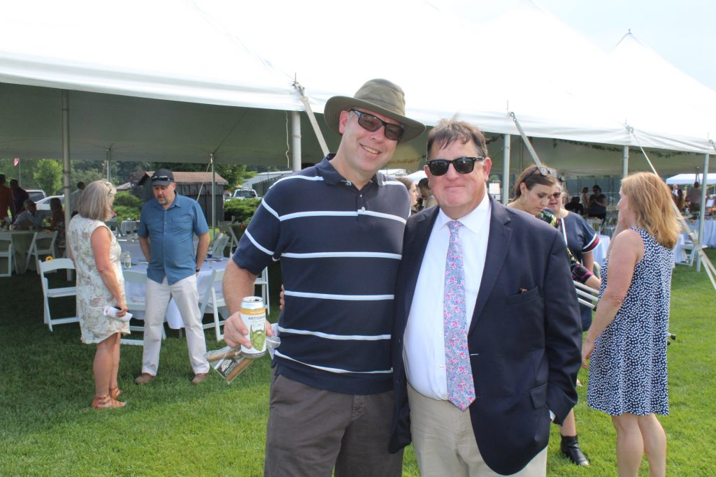Chris Lyons with friend at Croquet on the Green 2019