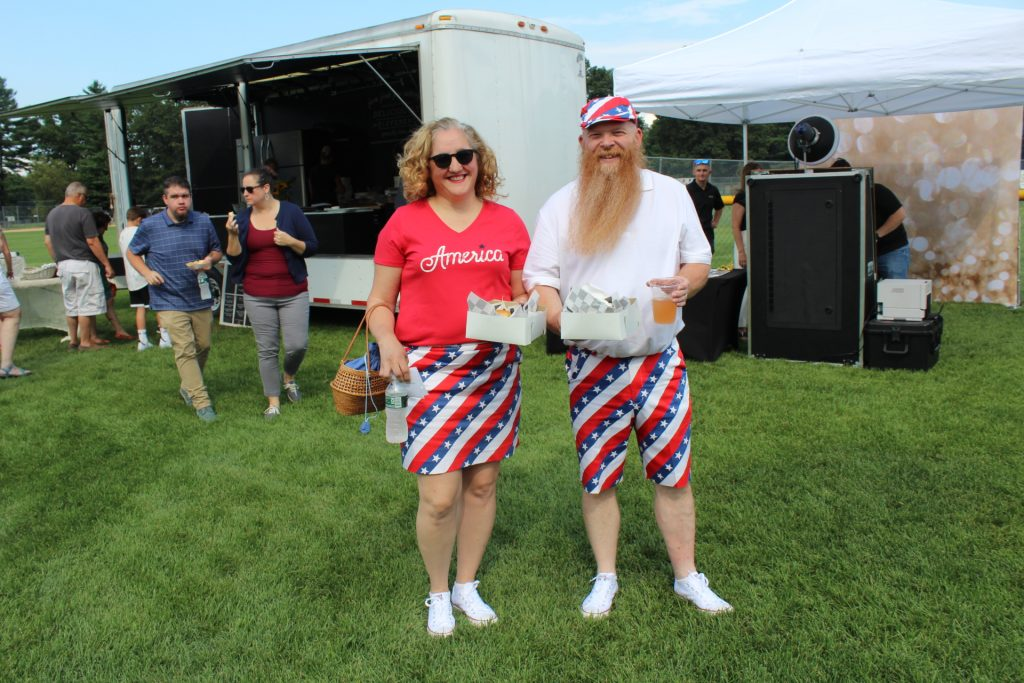 Joyce and Joe Ure from Cudney's Cleaners at Croquet on the Green 2019