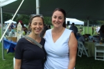 Bo Goliber of Fingerpaint and Tara Anne Pleat of Wilcenski & Pleat PLLC smiling together at Croquet on the Green 2019