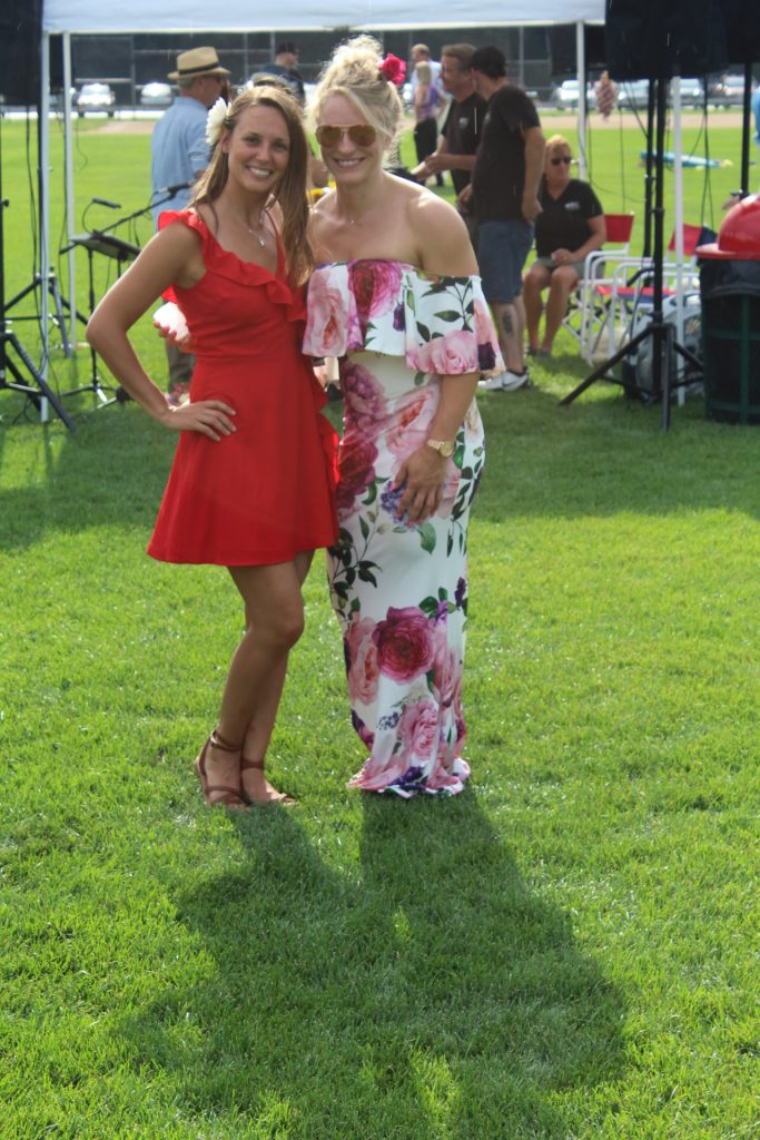 Two women smiling together at Croquet on the Green 2019