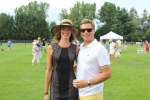 Couple smiling on croquet field at Croquet on the Green 2019