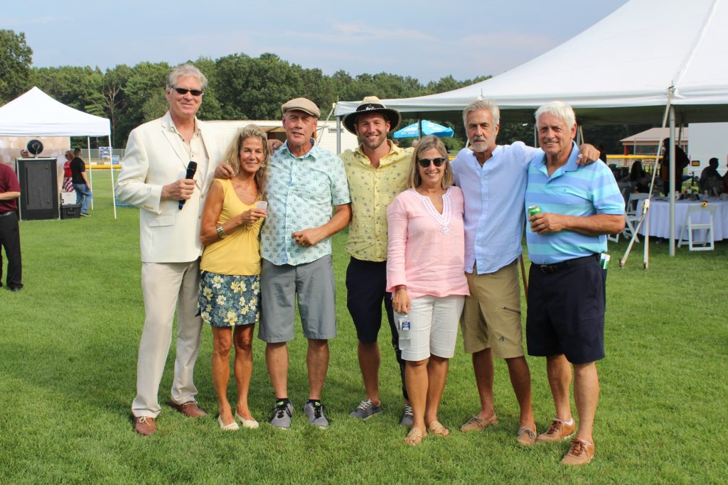 Group of seven people at Croquet on the Green 2019