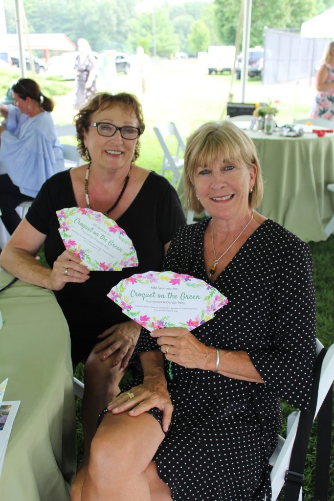 Beth Flynn and Terri Montayne from Jaeger & Flynn at Croquet on the Green 2019