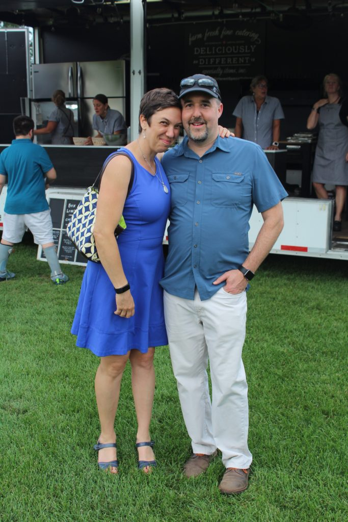 Larry and Beth Novik together smiling at Croquet on the Green 2019