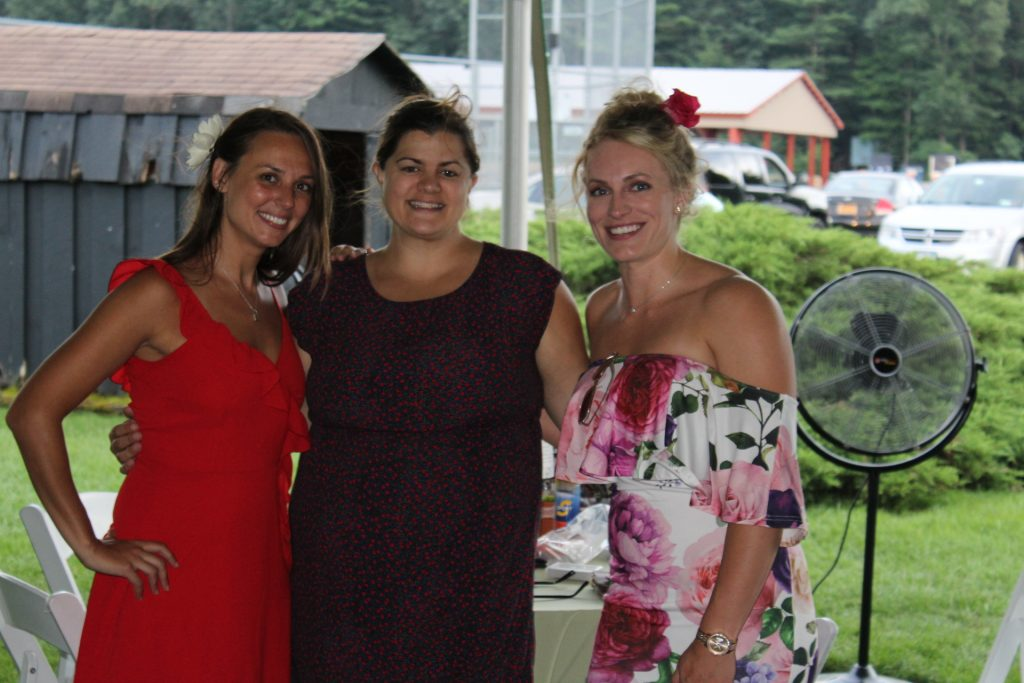 L-R: Marissa Romero, Lauren St. Pierre, and Kayla Winsman at Croquet on the Green 2019
