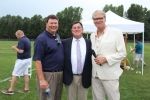 L-R: AIM Board President Brian Gwynn, Executive Director Chris Lyons, and Director of Public Relations Walt Adams together and smiling at Croquet on the Green 2019