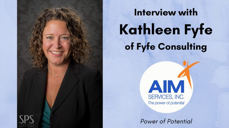 "Headshot of Kathleen Fyfe with text ""Interview with Kathleen Fyfe of Fyfe Consulting"