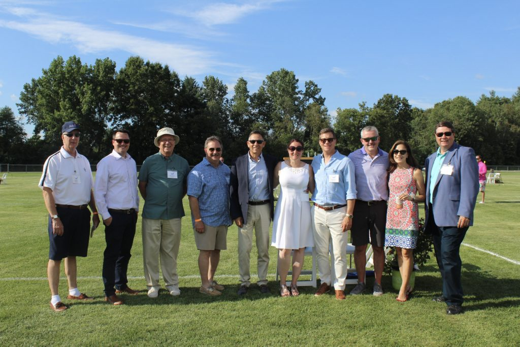 Group of some of the Board of Directors at AIM Services Croquet on the Green 2021