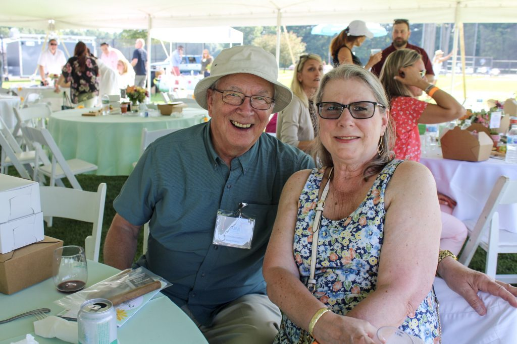 Martin Glastetter and Cathy Shiffert at AIM Services Croquet on the Green 2021